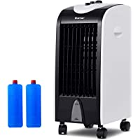 COSTWAY Evaporative Air Cooler with Fan & Humidifier Portable Bladeless Quiet Electric Fan w/Remote Control