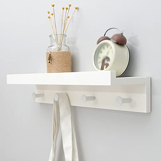 Clothes hat shelf Percheros de Entrada/Estante/Percheros de Pared/Perchero/Perchas/Percheros/Madera, Blanco, Negro Perchero de Pared/Tres Colores, ...