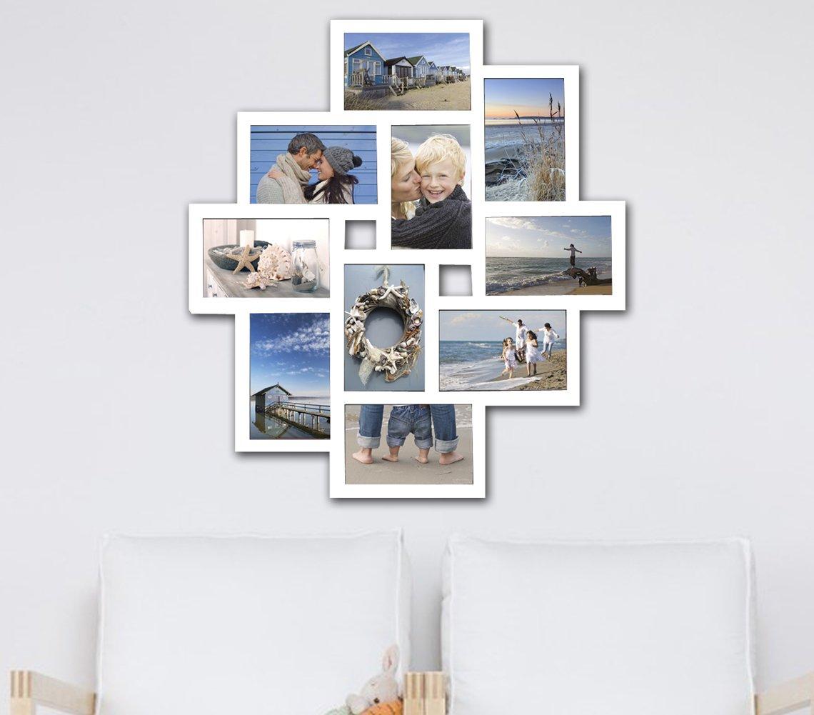 Amazon.de: WOLTU BR9726 Bilderrahmen, 10 Fotos Collage, 10x15cm ...