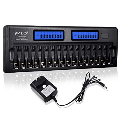 Amazon.com: Palo 16 Bay/ranura visualización LCD cargador de ...