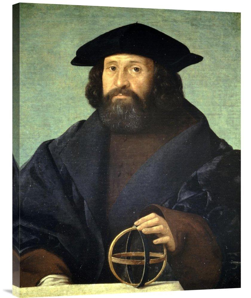 Global Galerie Budget gcs-264673–76,2–360,7 cm Giovanni Giovanni Giovanni Cariani Portrait Of ein Astronom Galerie Wrap Giclée-Kunstdruck auf Leinwand Art Wand B01K1OLN3M | eine große Vielfalt  142c02
