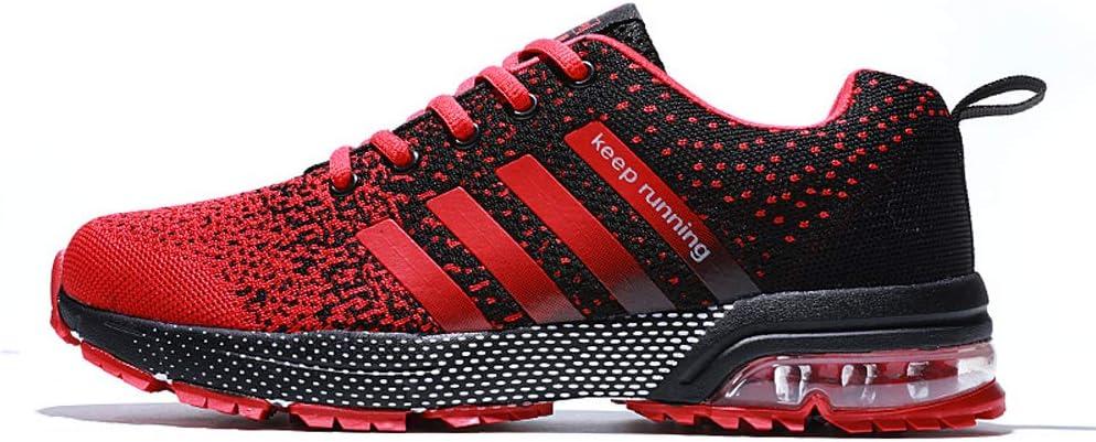 Los Zapatos Corrientes De Las Mujeres De Los Hombres De Amortiguación De Aire Zapatos Zapatillas De Deporte con Cojín De Aire Que Ejecuta La Zapatilla De Deporte Unisex,Rojo,US7.5/UK7/EU41: Amazon.es: Hogar