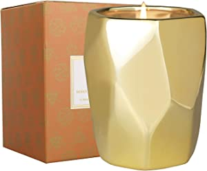 LA JOLIE MUSE Moroccan Amber & Patchouli Scented Candle, Natural Soy Candle for Home, 80 Hours Long Burning, Ceramic Jar Candle Gift, 10 Oz