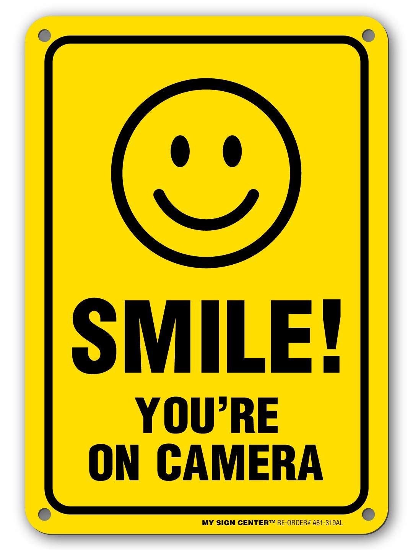 Sonrisa estás en cámara Cartel - fabricado en Estados Unidos ...