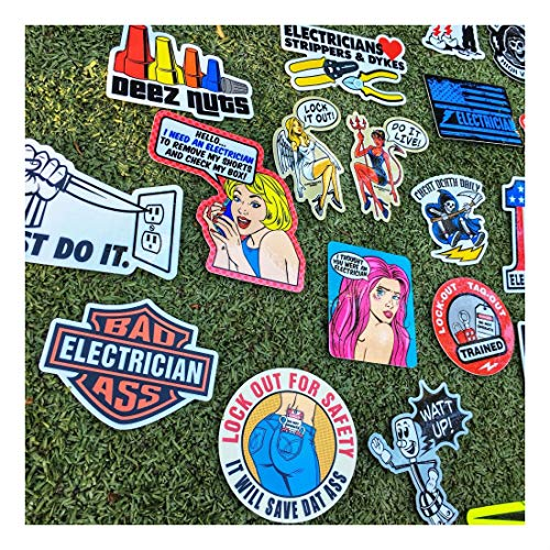 New Electrician (55+) Hard Hat Stickers Hardhat Decals, Lineman Reddy IBEW by Unknown (Image #2)