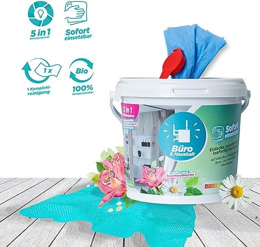 CleaningBox - Toallitas húmedas 5 en 1 para oficina y hogar I Caja ...
