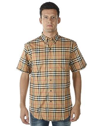 70360d2abb6538 Image Unavailable. Image not available for. Color: BURBERRY Men's Jameson  Camel Vintage Check Shirt ...