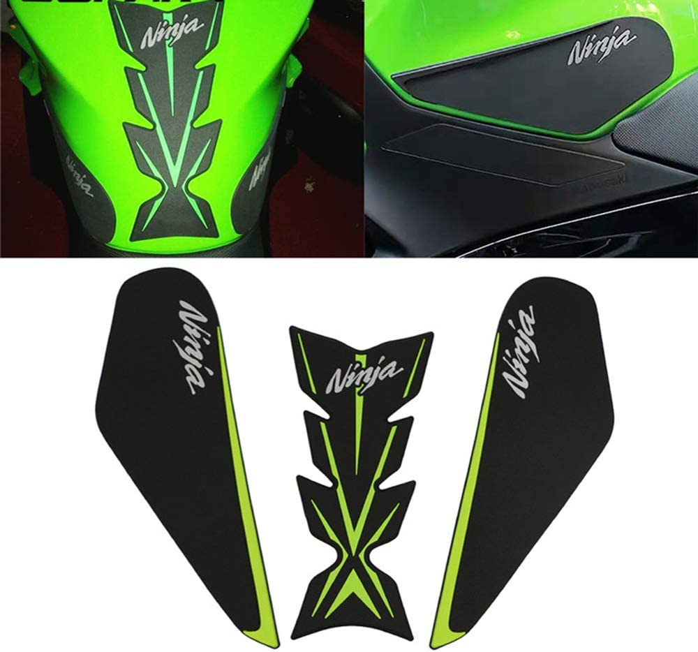 COPART Motorcycle Gas Tank Traction Pads Fuel Tank Grips Side Stickers Knee Grips Protectors Decal for Kawasaki NINJA400 2017 2018
