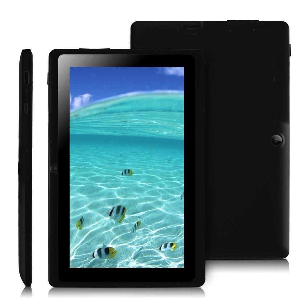 NavLine Allwinner A33 Quad Core 7 inch Tablet PC,Google Android 4 4  KitKat,1024*600 Resolution,Dual Cameras,8GB ROM,Bluetooth,WIFI,512MB DDR3  (Black)