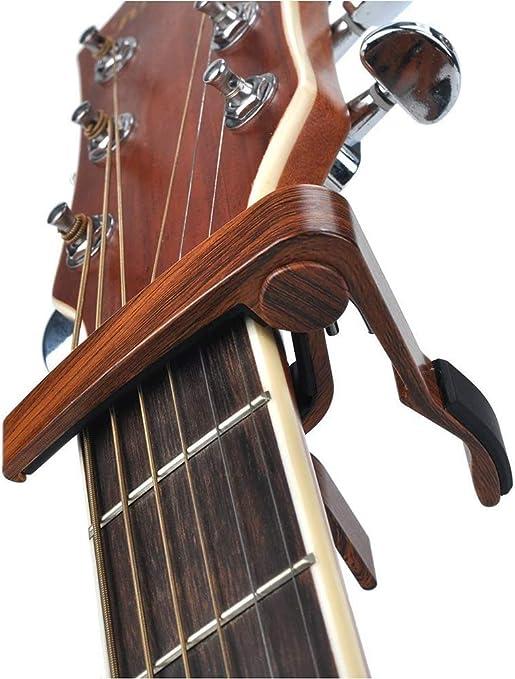 Yanchad Madera Capo de Guitarra JX-09 Palo de Rosa Color Guitarra ...