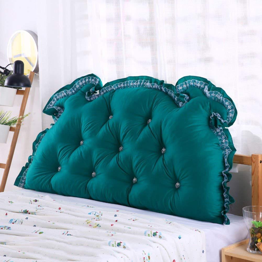 JIANHEADS ベッドサイドの読書枕背部クッション、ソファーマットクッション100%綿背もたれ位置決めサポート枕 (Color : O, サイズ : 125x70x15cm(49x28x6inch)) B07RZ3D5QZ