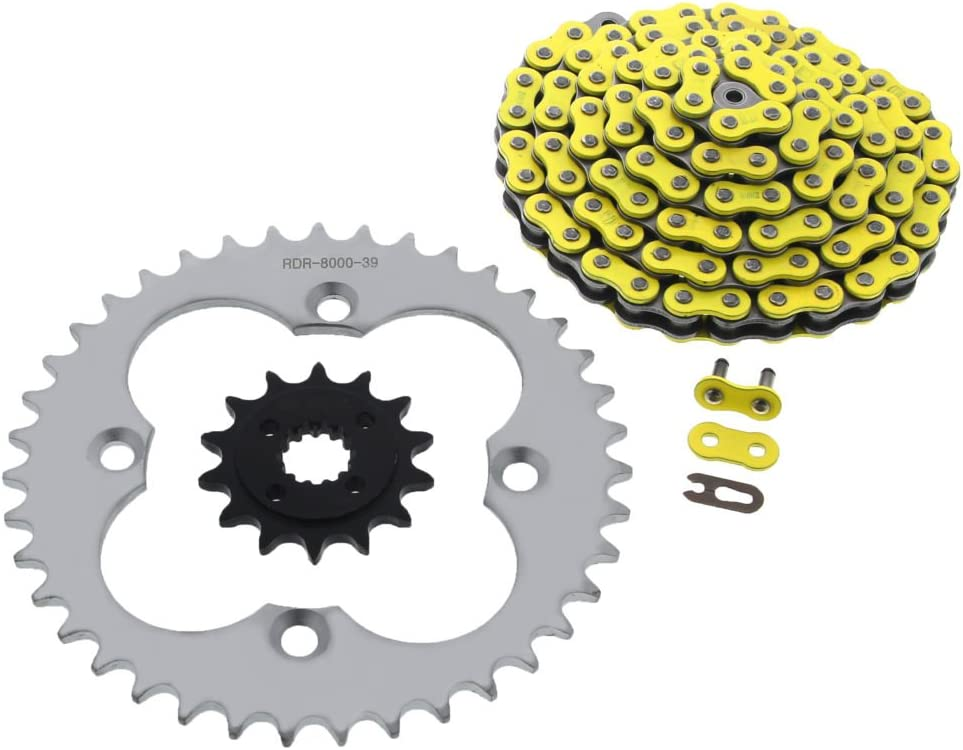 99-2004 Honda 400EX TRX400EX Yellow Non O-Ring Chain /& Black Sprocket 14//38 94L