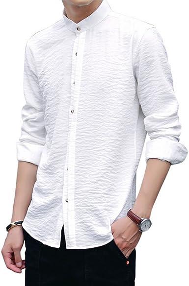 Hellomiko Camisa para Hombre de Manga Larga Camisa Formal de Manga Larga Camisa Informal de Manga Larga para Hombres: Amazon.es: Ropa y accesorios