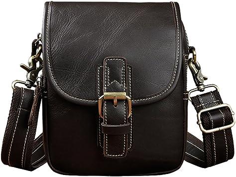 Genda 2Archer Large Genuine Leather Mens Travel Bag Flap-over Laptop Backpack
