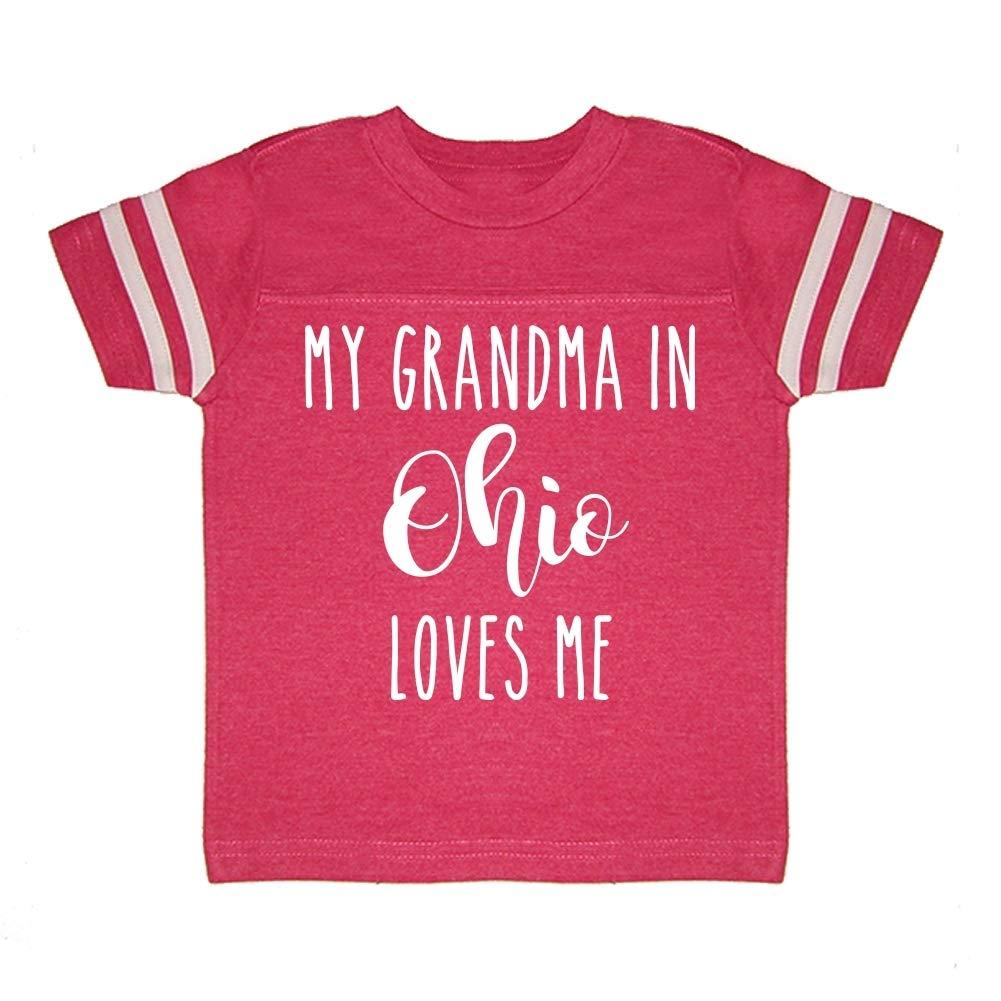 My Grandma in Ohio Loves Me Toddler//Kids Sporty T-Shirt