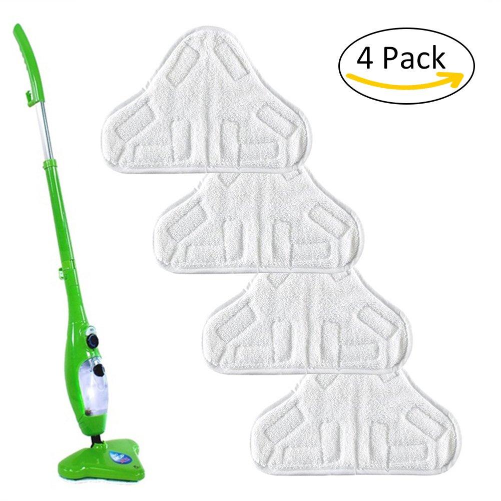 , 4unidades de repuesto mopa eléctrica de vapor gamuza de cubierta del filtro de microfibra piso lavable almohadillas para H2O H20X5por favolook, 4 unidades UK20171017002