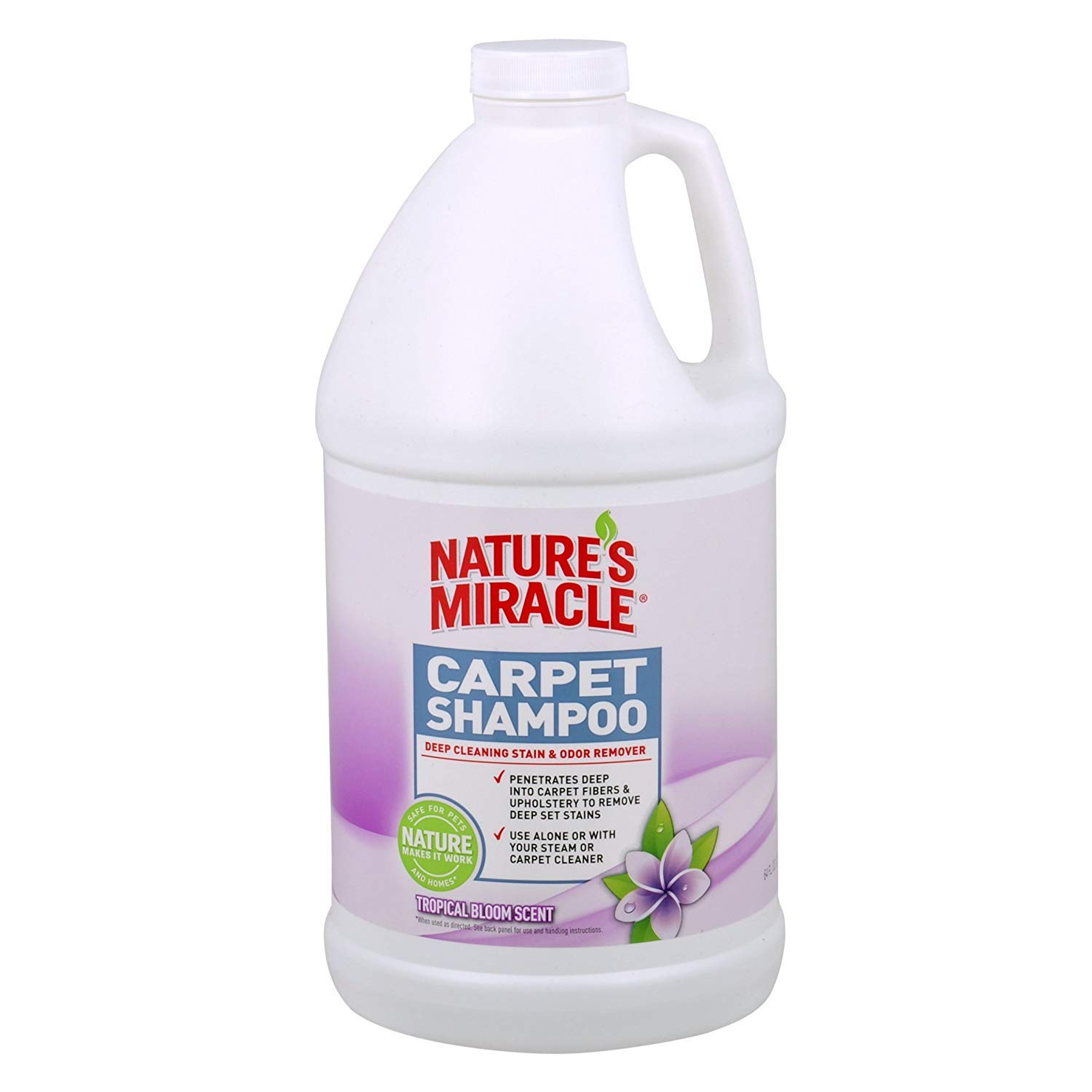 Nature's Miracle Tropical Bloom Scent Deep Cleaning Carpet Shampoo, Tropical Bloom.5 Gallon (1 Gallon)