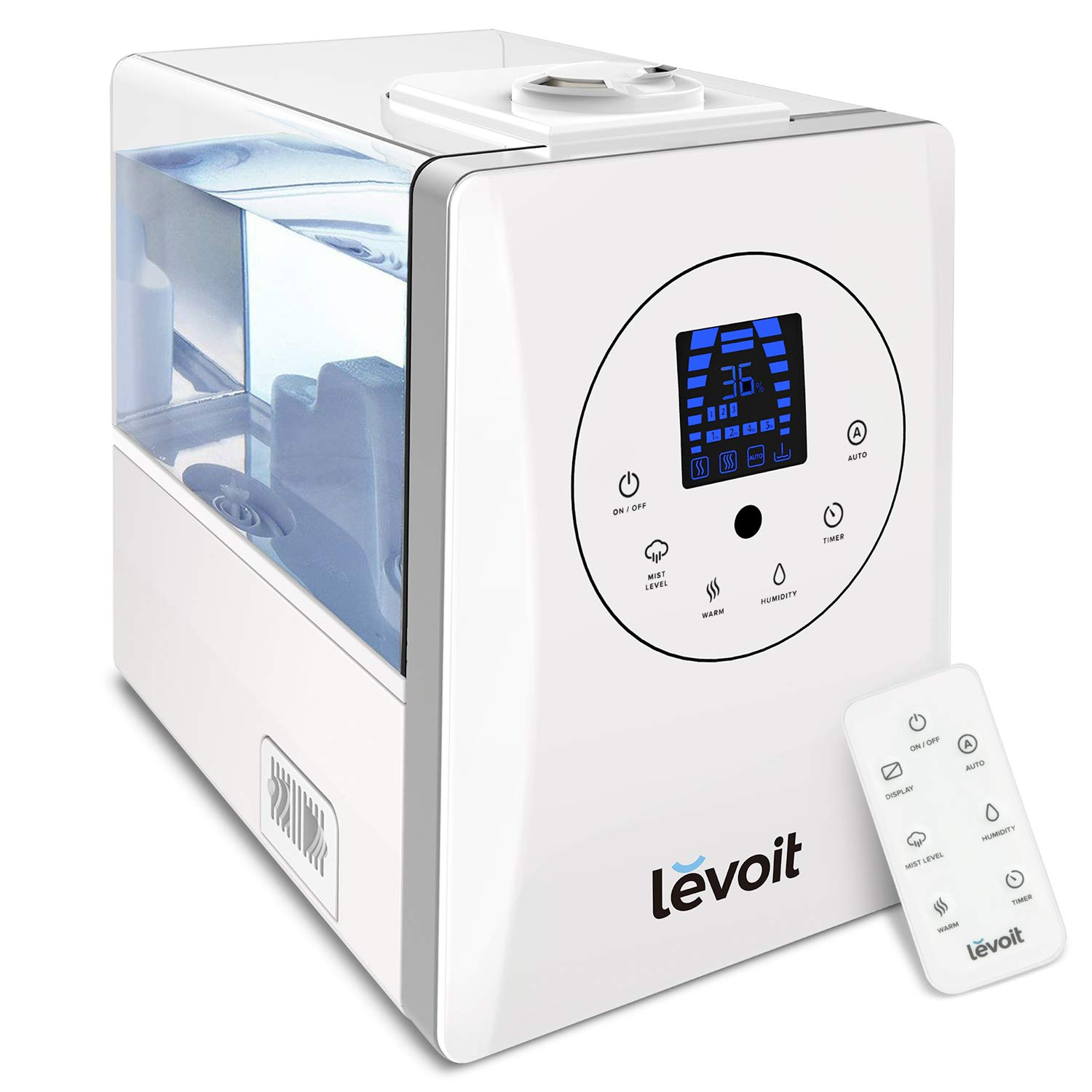 LEVOIT Humidifiers for Large Room Bedroom (6L), Warm and Cool Mist Ultrasonic Air Humidifier for Home Whole House Babies Room, Customized Humidity, Remote, Germ Free and Whisper-Quiet, 2-year Warranty by LEVOIT