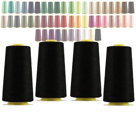 (325 black) - 4 x Cones overlocking thread 40S/2, 3000 Yards