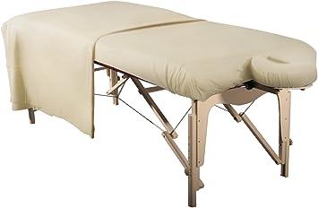 Camilla de masaje funda/Spann funda set 3 piezas sábana para camilla de masaje/Masaje Banco y reposacabezas de algodón lavable Cómoda Beige/natural: Amazon.es: Salud y cuidado personal