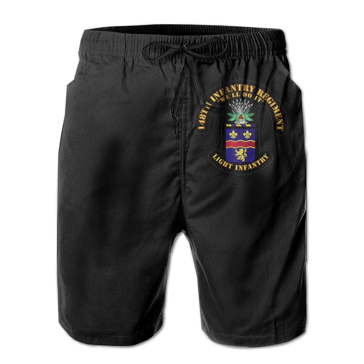 148th Infantry Regiment 3D Print Mens Beach Shorts Swim Trunks Workout Shorts Summer Shorts