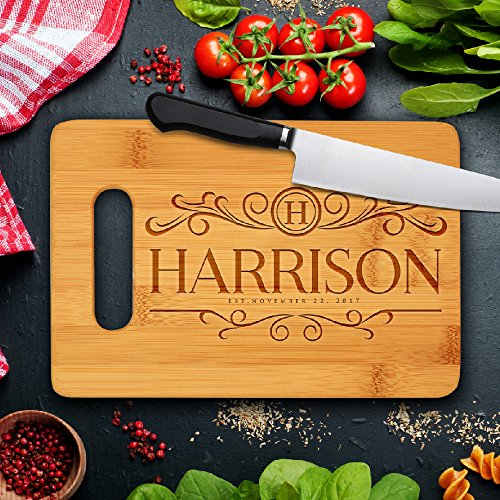 Personalized Cutting Board, Customized Housewarming Gift Carving Board, Custom Wedding  Favors Chopping Board, Made in USA | JDSBAMBOO ()