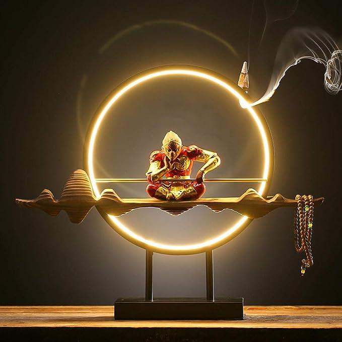 XINSTIAO Chino de iluminación Zen llevó el círculo de la lámpara ...