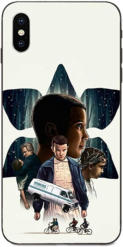 LvShui Stranger Things Galaxy A40 Coque Etui Housse Case Cover Stranger Things Eleven pour Samsung Galaxy A40 (Series 4)