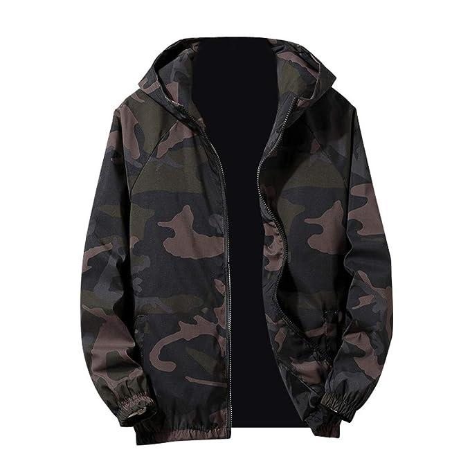 Amazon.com: Teresamoon Mens Autumn Winter Zip Camouflage ...