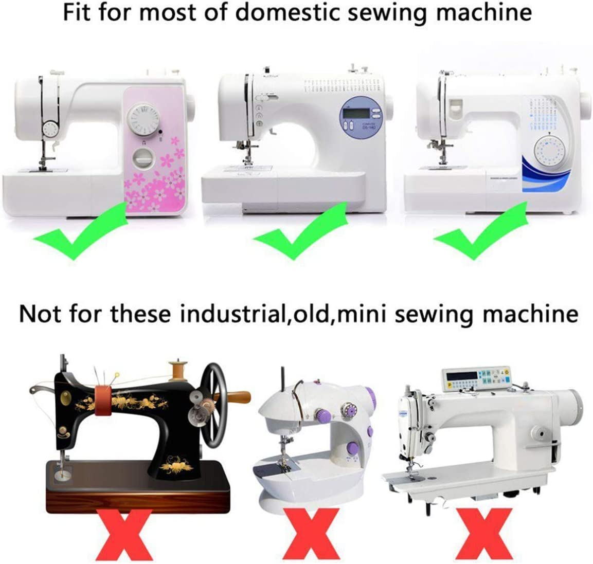 CKPSMS - 1 prensatelas para máquina de coser Overlock Overcast KP ...