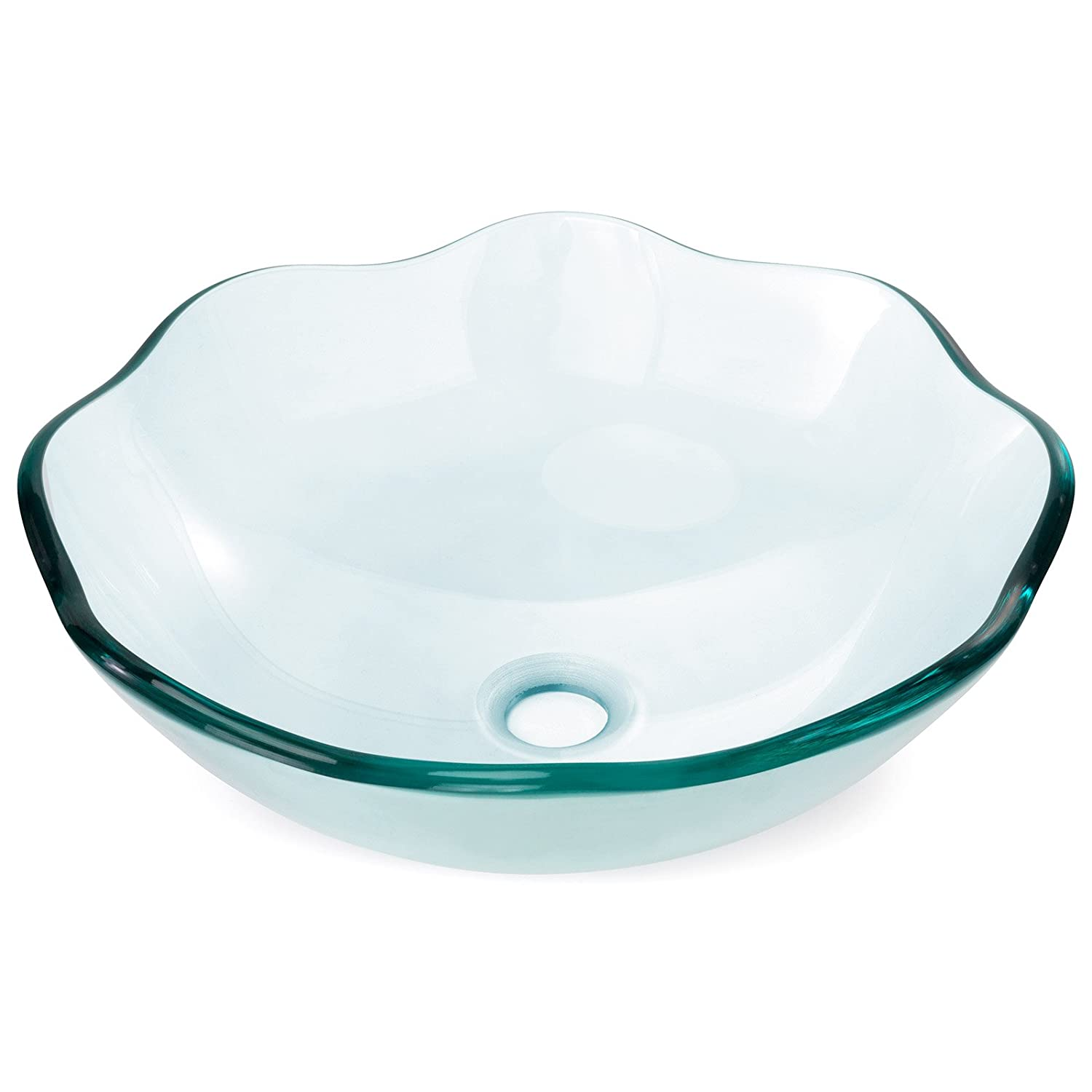 Miligoré Modern Glass Vessel Sink ...