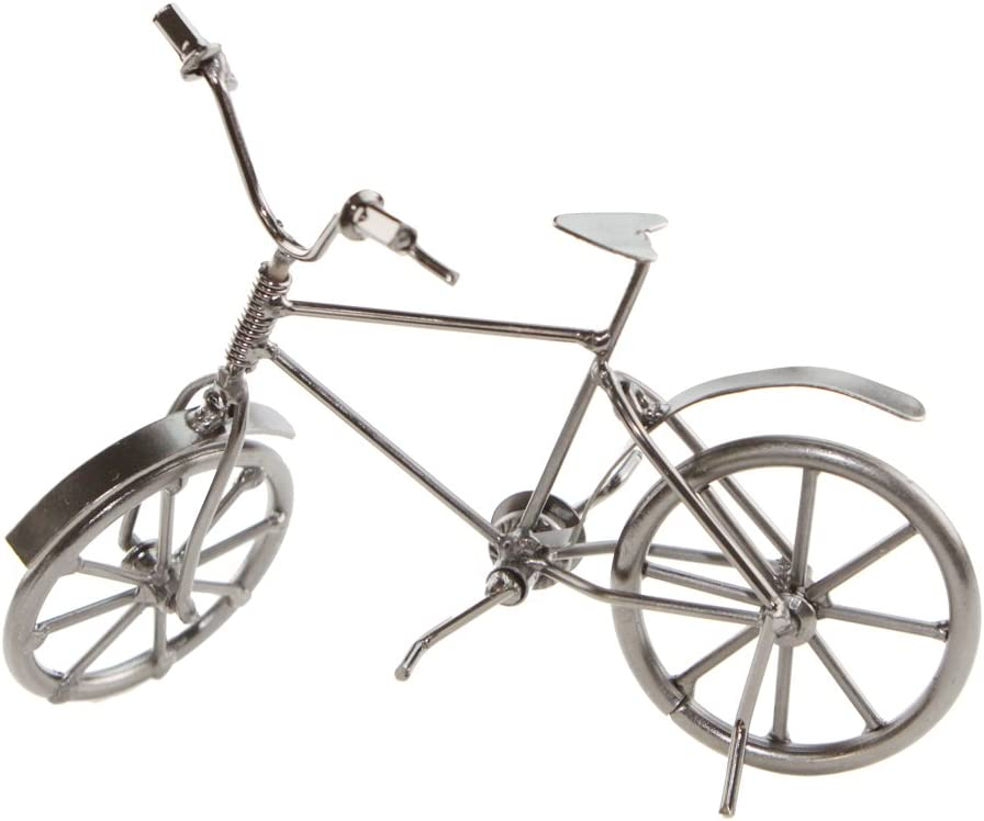 UNIGIFT Creative Vintage Iron Art Retro Bicycle Model Home Desk Workplace Office Decoration Gifts (Silvery)