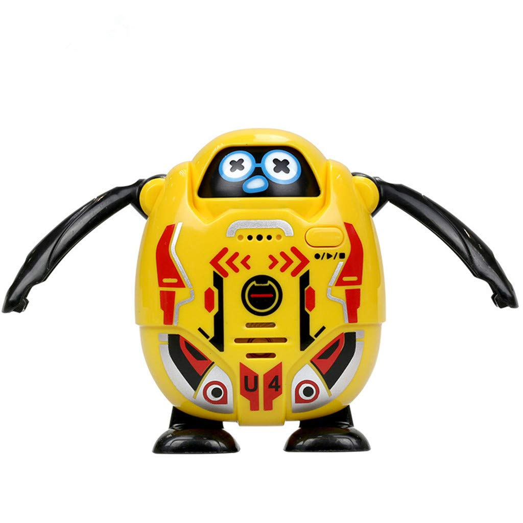 Clearance Sale!DEESEE(TM)SilverLit Robot Takibot Talkback Robot with Emotions Assorted Colours (Yellow)