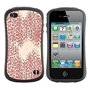 Hypernova Slim Fit Dual Barniz Protector Caso Case Funda Para Apple iPhone 4 / iPhone 4S [Motif blanc Fond d'écran Art]