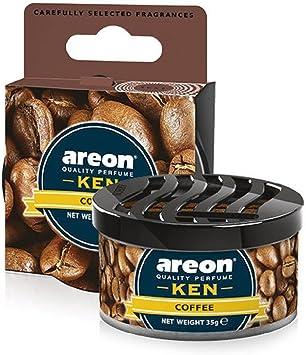 Areon Ken Lufterfrischer Dose Auto Kaffee Autoduft Duft Duftdose Wohnung Erfrischer 3d Coffee Pack X 1 Auto