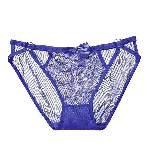 DOGZI Mujer Bragas cordón Cintura Transpirable Sexy Lateral Ropa Interior Femenina Lencería Bragas Tanga Cintas Bragas