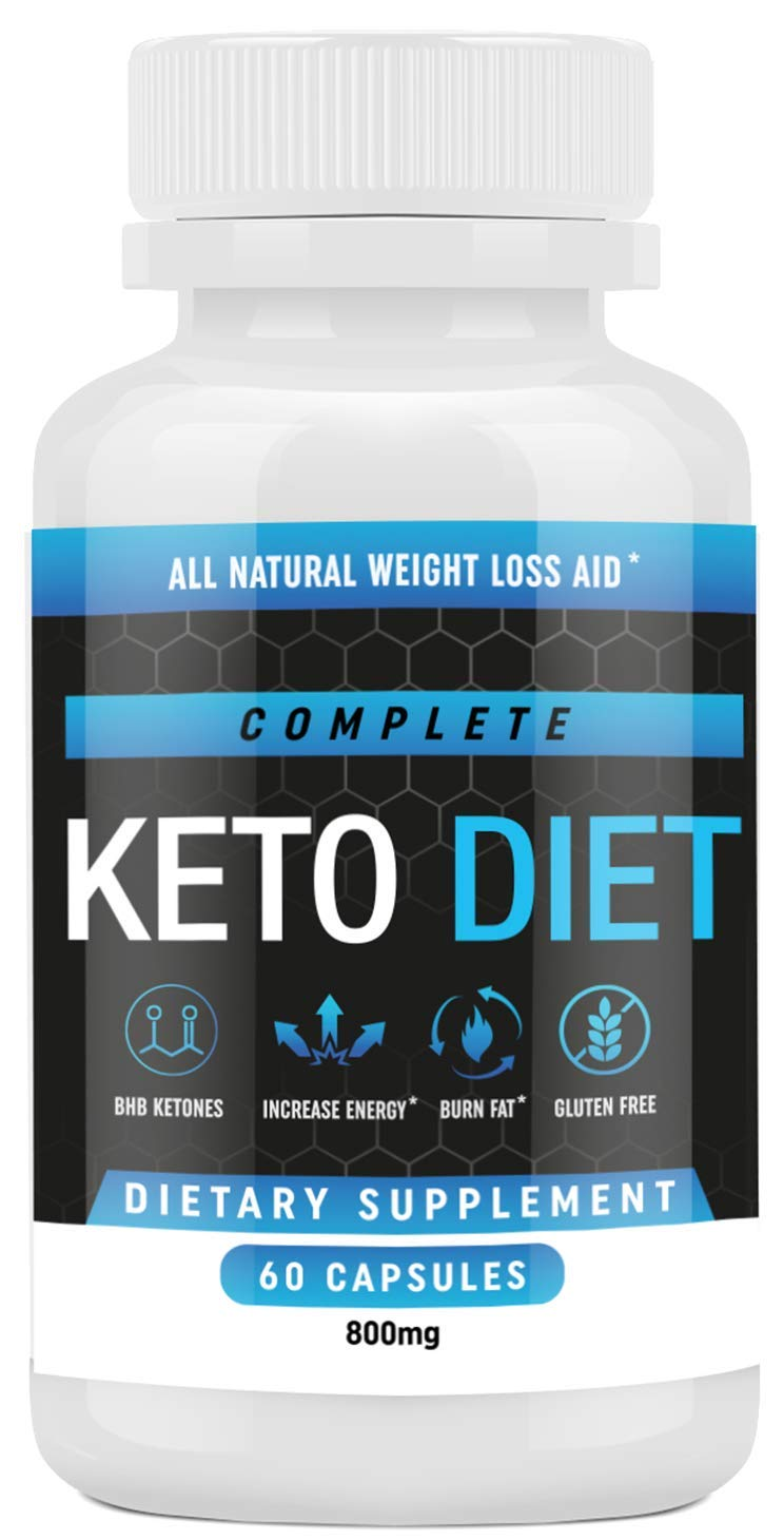Keto Diet Pills - Weight Loss Fat Burner Supplement for Men and Women - Carb Blocker & Appetite Suppressant Formulated to Compliment a Ketogenic Diet - 60 Capsules by Complete Keto Diet