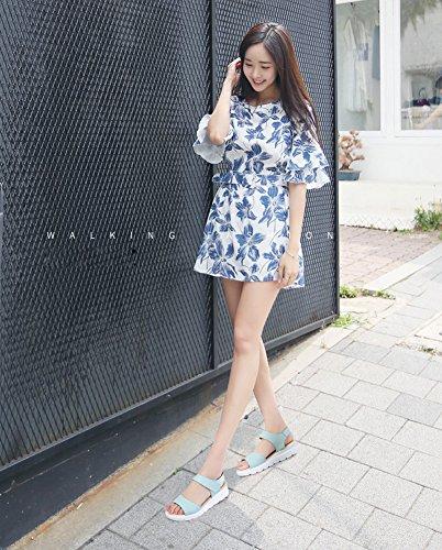 VWU - Sandalias de vestir para mujer Azul