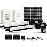NEW Gate Opener Double Automatic Solar Electric Swing Kit Remote Control 1000KG