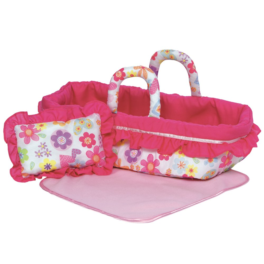 Baby Doll Bed Cradle Carrier Soft Cloth Handles Portable