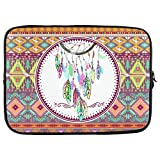 InterestPrint Aztec Vintage India Dream Catcher 15 15.4″ 15.6″ Inch Laptop Sleeve Bag for Dell Inspiron, Vostro, Samsung, ASUS UL30, Toshiba Notebook