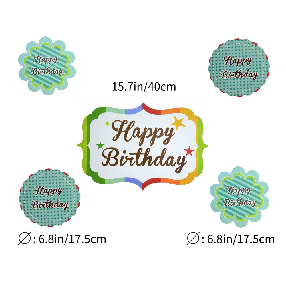 Happy Birthday Party Decorations Supplies Set for Boy Girl Kids Adult Men Women