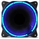 anidees AI Halo Nuclear Green ventola da 120mm con elevato flusso d'aria e illuminazione a LED per Ventole per CPU,raffreddamento ad - Verde