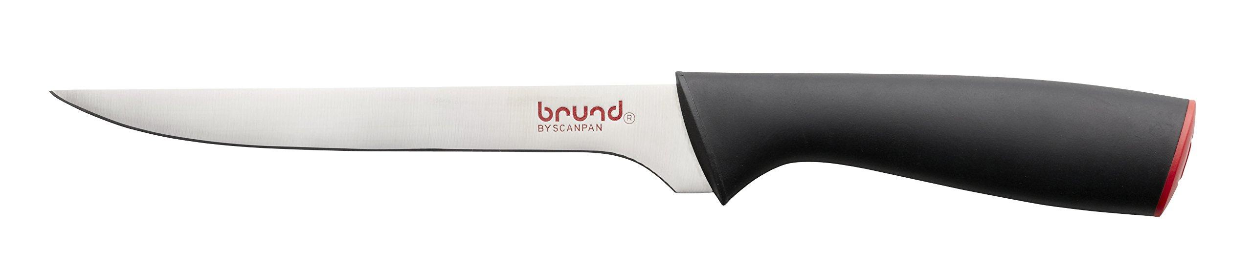 Brund By Scanpan 14051304 Brund EasyCut 6,75''/17cmFilleting Tomato Knife, 6.75'', Black by Brund By Scanpan