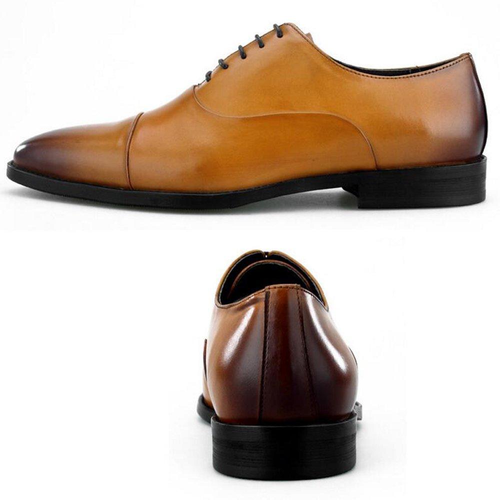 GAOLIXIA Three-joint Herrenschuhe - High-End-Herren Lederschuhe - Up Lace Up - Formale Geschäft-Schuhe. Vier Jahreszeiten Größe 6-12 15930a