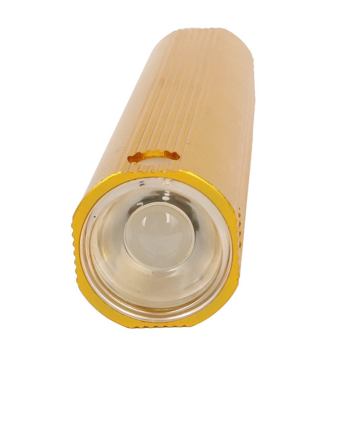 Amazon.com: eDealMax Teléfono celular de la cáscara de aluminio Cargador DE 3 modos LED linterna USB Dorado: Electronics