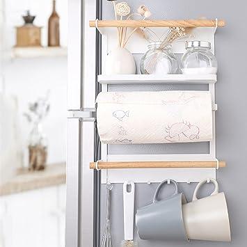 AIDELAI Regal Kühlschrank Rack Küche Lagerregale Eisen Magnete Rolle Papier  Handtücher Aufbewahrungsbeutel