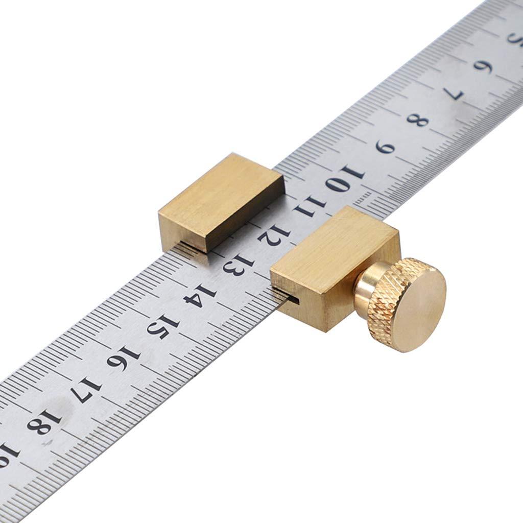 Chaoxiner Positionierblock langlebiger Locator mit Stahllineal Holzbearbeitungswerkzeuge Eckmessger/ät Universal Messingschnur Anrei/ßer Universal Schreinerwerkzeug Schnurriber Eckgenauigkeit