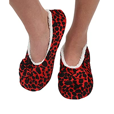 Womens Touch Me Snoozies Ballerina Slippers with Comfort Fit Split Sole | Slippers