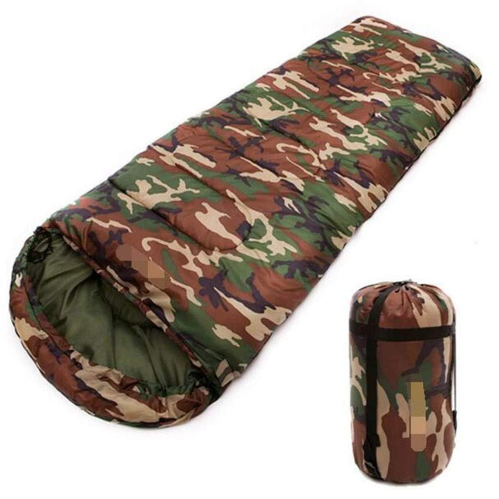 JTYX Schlaftaschen für Erwachsene im Freien Camping Tents Cotton Camouflage Spring Sleeping Bag